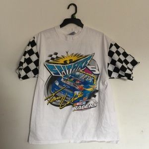 NASCAR Checkered Flag Sleeve Tshirt